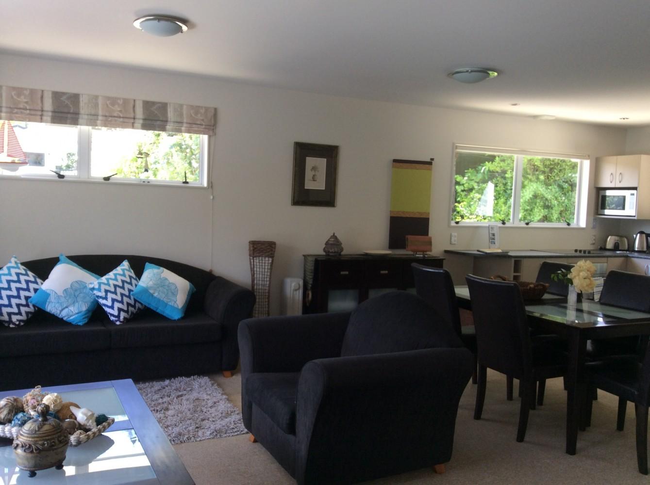 apartment lounge kitchen
